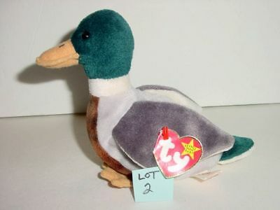 e07a00b4861 JAKE the MALLARD DUCK LOT 2 RETIRED TY The Beanie Babies Collection 1998 Toy
