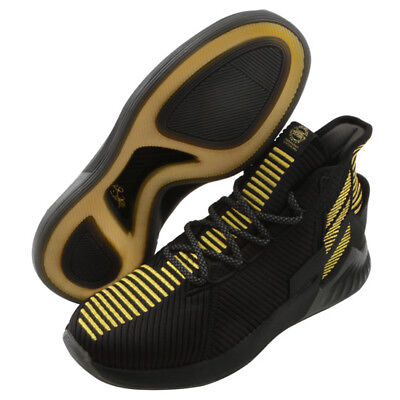 official photos 379a5 374dd adidas D ROSE 9 Mens Basketball Shoes Black Gold Bounce Knit NBA NWT BB7657
