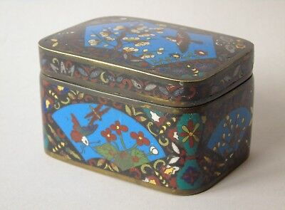 Attractive Japanese Cloisonne Lidded Box Meiji Period