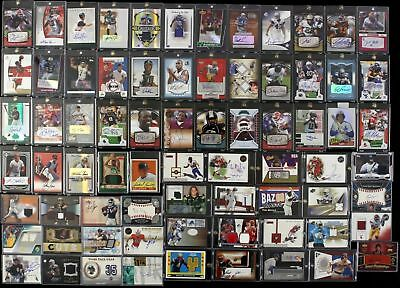 Nfl Dutch Auction Football Hot Pack!! 5 Card Guaranteed Autograph/Game Used