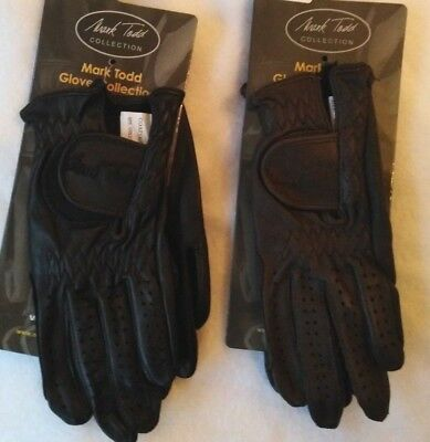 Mark Todd Childrens Soft Leather Show/Riding Gloves Black or Brown various sizes