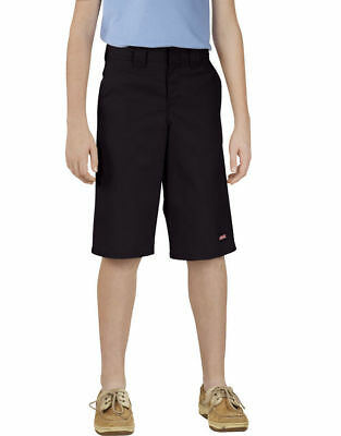 Genuine Dickies Boys Black Classic Fit Multi-Use Pocket Shorts, Sz: 8 Husky NWT