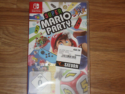 NINTENDO SWITCH SPIEL SUPER MARIO PARTY PAL Version OVP neu in Folie