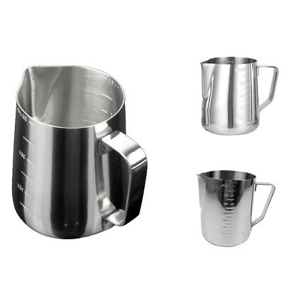 2Pcs 350ML Milk Frothing Pitcher Stainless Steel Milk Frothers chef,motta