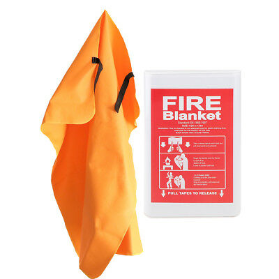 Fiberglass Fire Blanket Emergency Survival Flame Retardant Safety 1x1m