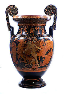 The death of Talos Red Figure Krater Vase Ancient Greek Pottery Museum Copy 18in