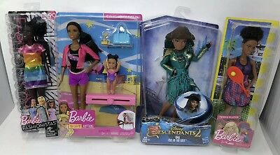 Brown Skin Barbie Collection Descendants 2, Tennis & Gym Coach, And Fashionista