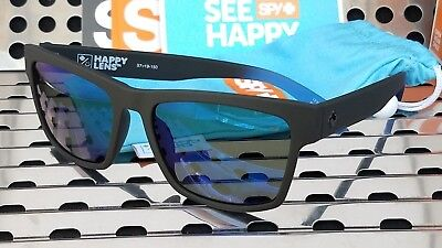 c9a41628df New Spy HAIGHT 2 Sunglasses Soft Matte Black-Blue Fade w  Happy Dark Blue