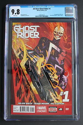 ALL-NEW GHOST RIDER #1 1st Robbie Reyes 2014 1st Print TV Agents SHEILD CGC 9.8