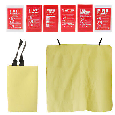 Fiberglass Fire Blanket Emergency Survival Flame Retardant Safety Protection