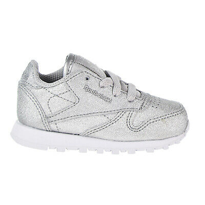 21e0418b955e Reebok Classic Leather Syn Toddler s Shoes Silver Metallic Snow Grey BS7583