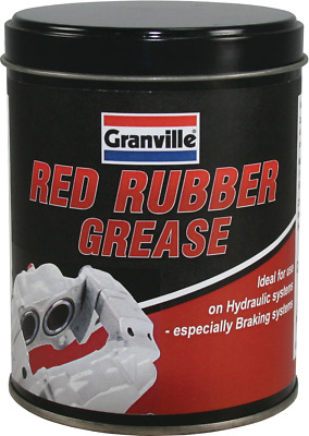 Granville Red Rubber Grease Tub Brake Caliper Pistons & Hydraulic Systems 500g