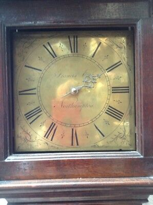 18c Single Hand Brass Dial Longcase Grandfather Clock Frances Eck Northampton