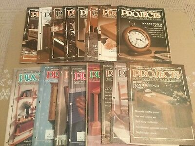 Lot of (16) Issues 1988/90 Weekend WoodWorking PROJECTS Magazine