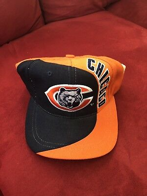Chicago Bears NFL Vintage Snapback Hat Cap American Needle Blockhead Navy  Orange 4e841be87
