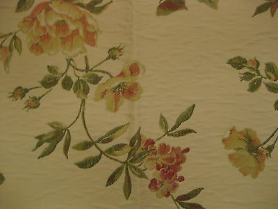 Floral Upholstery Fabric Cabbage Roses Flower Khaki Pink 54 Wide