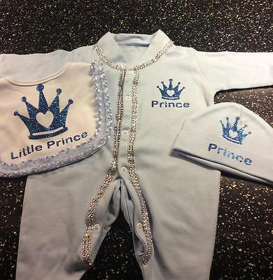 Romany Crystal Bling Baby Boys' Personalised Gift Set 0-3 3-6 6-12