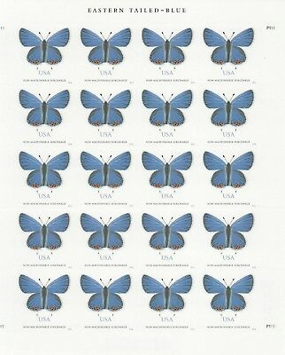 Eastern Tailed-Blue Butterflg Stamp Sheet -- Usa #5136  Non Machinable Surcharge