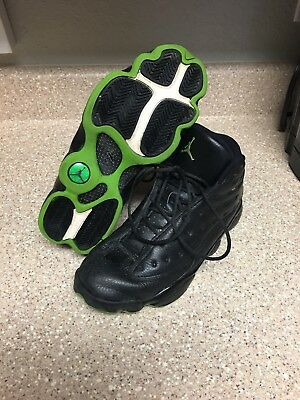 wholesale dealer 90d10 17e77 MENS AIR JORDAN Retro 13 XIII Altitude Green Black 414571-042 Size 8.5