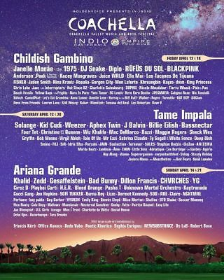 2019 Coachella Weekend 2 - (2)General Admisson 3-day Wristbands + Car camping