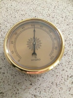 Quality Precision Aneroid 60mm Hydrometer in gold
