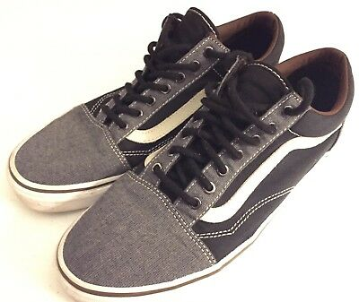 6d1966a1991 Vans Old Skool Fashion Sneakers Black Pewter Suede Canvas Men s 9   Women s  10.5