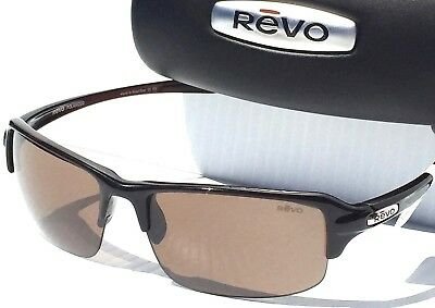 0dca93f49e REVO HEADING MASON Brown Crystal POLARIZED Green WATER Sunglass 4058 02 BL.