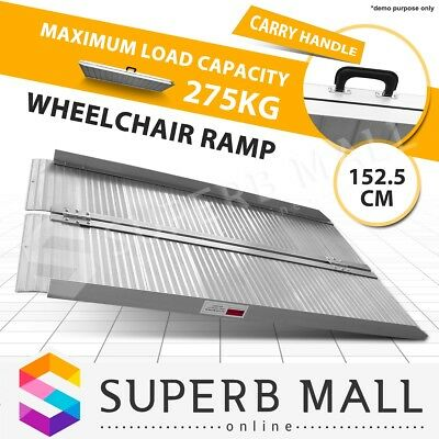 1.5M Portable Aluminium Wheelchair Ramp Scooter Folding Mobility Loading Access