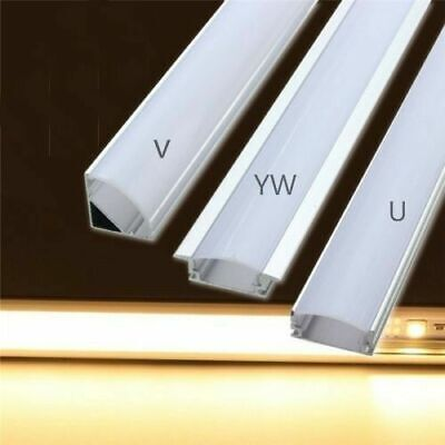 5 X 1M Aluminium LED Strip Light Channel Profile 1 Meter Length w/ Diffuser