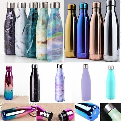 350-1000ml Stainless Steel Water Bottle Double Wall Vacuum Insulated for Outdoor