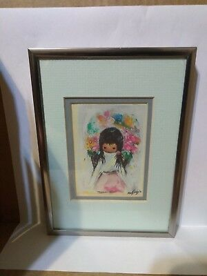 DEGRAZIA FLOWER GIRL Framed matted print
