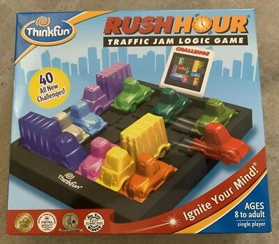 Brand New Think Fun Rush Hour Traffic Jam Logic Game Toy Busy Hour Puzzle Game