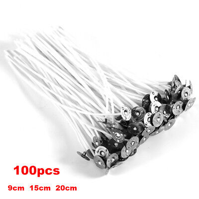 100PCS/PACK CANDLE WICKS Pre Waxed Cotton Core DIY Candles Making