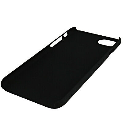 Hard Rubber Slim Armour Thin Back Cover Case Solid Black For Apple iPhone 6/6S/7