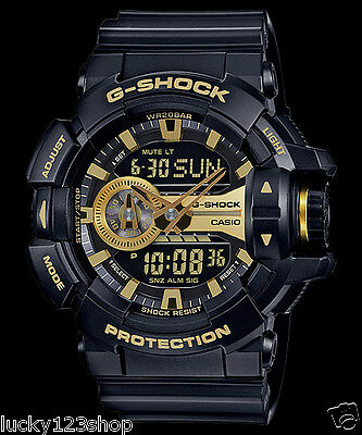 GA-400GB-1A9 Black G-Shock 200m Digital Resin Band 200m Casio Sport Men's