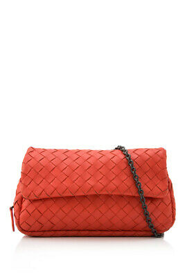 Pre-Owned Bottega Veneta Intrecciato Nappa Messenger Mini Bag (Red  Nappa  Leath) aeced7b8d897a