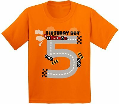 Birthday Boy Youth Shirt Race Car Party For Boys 5th