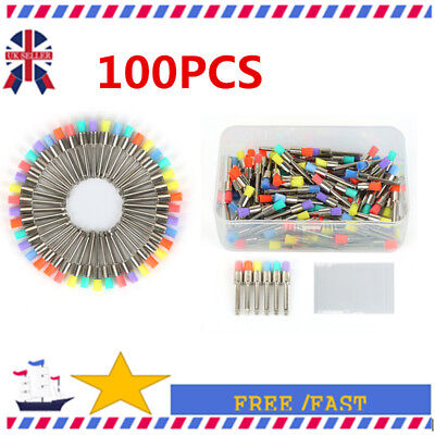100 PCS Disposable Flat Type Dental Nylon Polishing Polisher Prophy Brush UK0c