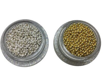Round Metal Spacer Beads in Silver and Gold Colour 2mm,3mm,4mm,5mm