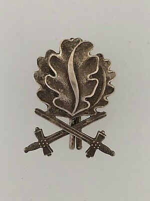 SOLID SILVER Germany WWII Oak leaves & swords to the 1939 Knights Cross