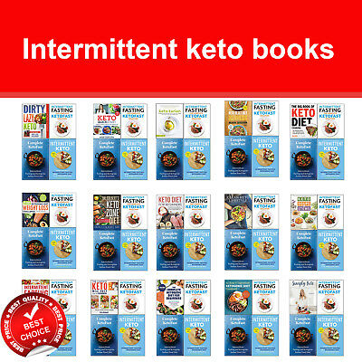 Intermittent keto books set Ketogenic Diet Cookbook Plant based Fasting Plan NEW