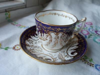 Copeland Gilded Cup & Saucer c.1851-1885