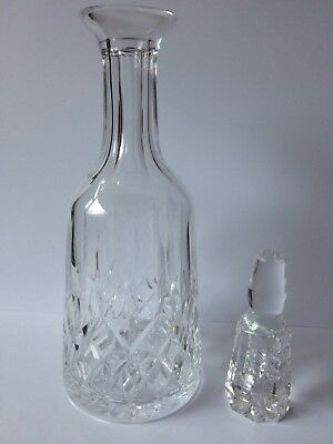 """Waterford Lismore Lead Crystal Cut Decanter & Stopper"""""""
