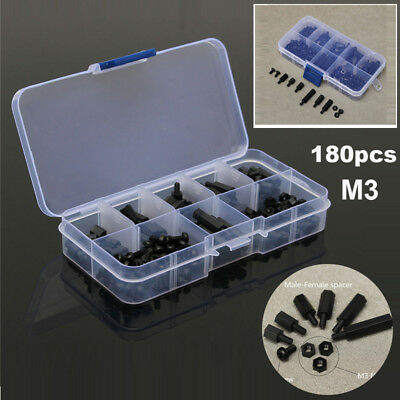Threaded Screws Set Male-Female Tool Accessory For electronics Black Stand-off