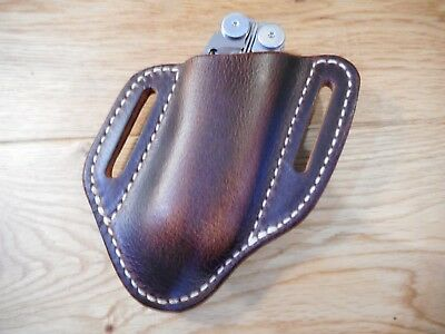 Leatherman Wave dark oil tanned Buffalo leather quick draw sheath. Sheath only.