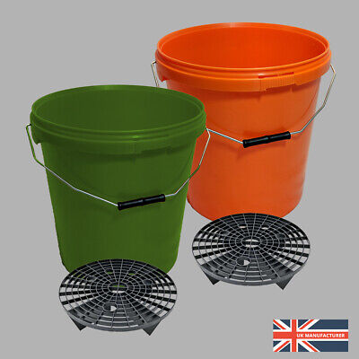 2 x 20L Car Wash/Detailing Bucket with Grit Shield