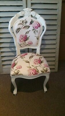 french style louis chair in Laura Ashley Hydrangea in pink