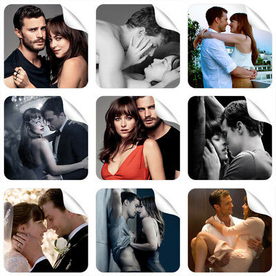 Fifty Shades Of Grey 9 Stickers + 3 Stickers FREE GIFT NEW Jamie Dornan Hot Sexy