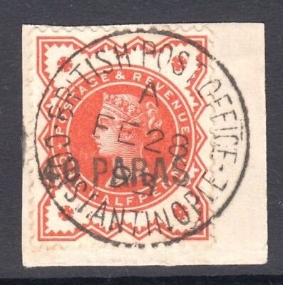 British Levant 1893 40pa on ½d QV USED SG 7 Cat £100