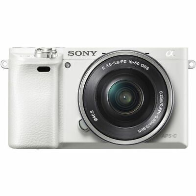 Sony a6000 24.3MP Mirrorless Camera with 16-50mm Lens Kit White ILCE6000L/W